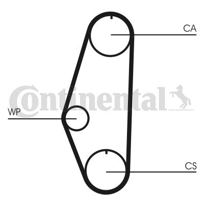 Zahnriemen Kit + Wasserpumpe CT629WP1 CONTITECH STD10248000M19 in Original Qualität