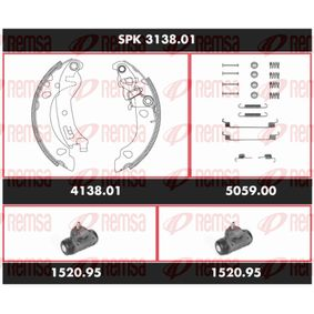 Brake Set, drum brakes SPK 3138.01 PANDA (169) 1.2 MY 2004