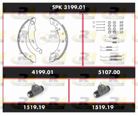 ROADHOUSE Super Precision Kit SPK 3199.01 Bremsensatz, Trommelbremse