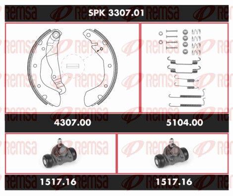 REMSA Super Precision Kit SPK 3307.01 Bremsensatz, Trommelbremse