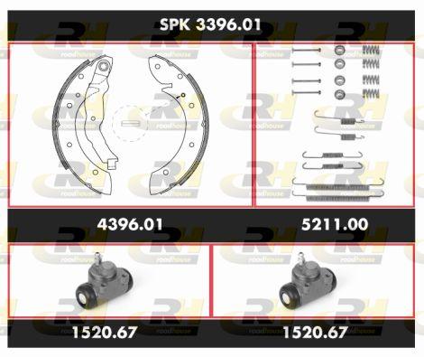 ROADHOUSE Super Precision Kit SPK 3396.01 Bremsensatz, Trommelbremse