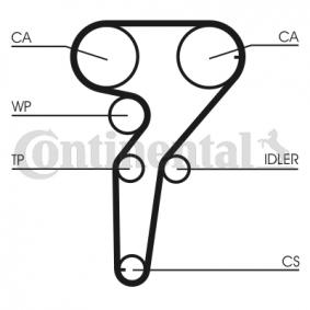 Wasserpumpe + Zahnriemensatz Breite: 24mm mit OEM-Nummer CT877 CONTITECH
