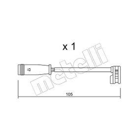 Warnkontakt, Bremsbelagverschleiß Warnkontaktlänge: 105mm mit OEM-Nummer A906 540 14 17