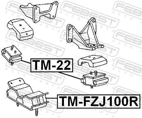Motor Mount FEBEST TM-22 rating