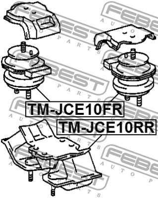 Motor Mount FEBEST TM-JCE10FR rating