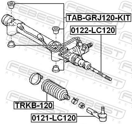 Bellow, steering FEBEST TRKB-120 rating