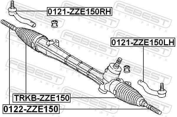 Bellow, steering FEBEST TRKB-ZZE150 rating