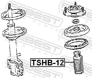 Guardapolvo Amortiguador & Almohadilla de Tope Suspensión FEBEST TSHB-12 evaluación