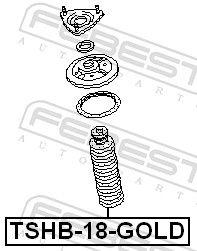 Caperuza protectora / fuelle, amortiguador FEBEST TSHB-18-GOLD evaluación