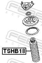 Caperuza protectora / fuelle, amortiguador FEBEST TSHB18 evaluación
