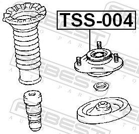 Lagerung, Stoßdämpfer FEBEST TSS-004 Bewertung