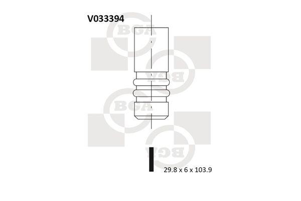 BGA  V033394 Auslassventil Ventilteller-Ø: 29,8mm, Ventilschaft-Ø: 6mm