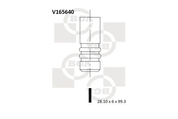 BGA  V165640 Einlassventil Ventilteller-Ø: 28,1mm, Ventilschaft-Ø: 6mm