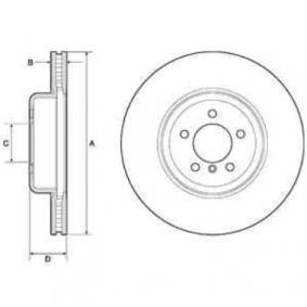 Brake Disc Brake Disc Thickness: 30mm, Rim: 5-Hole, Ø: 370mm with OEM Number 3410 6797 606