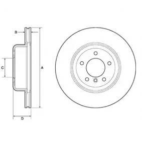 Brake Disc Brake Disc Thickness: 24mm, Rim: 5-Hole, Ø: 345mm with OEM Number 34206894382