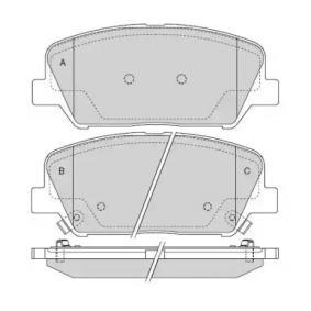 Bremsbelagsatz, Scheibenbremse Breite: 141mm, Höhe: 59,9mm, Dicke/Stärke: 18mm mit OEM-Nummer 58101A7A20