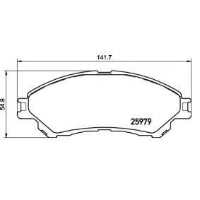 Bremsbelagsatz, Scheibenbremse Breite: 141,7mm, Höhe: 54,9mm, Dicke/Stärke: 17mm mit OEM-Nummer 55810-61M01