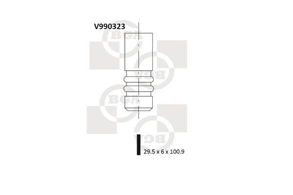 BGA  V990323 Einlassventil Ventilteller-Ø: 29,5mm, Ventilschaft-Ø: 6mm