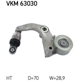 SKF  VKM 63030 Spannrolle, Keilrippenriemen Ø: 70mm, Breite: 28.9mm