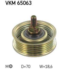 SKF  VKM 65063 Spannrolle, Keilrippenriemen Ø: 70mm, Breite: 18,6mm