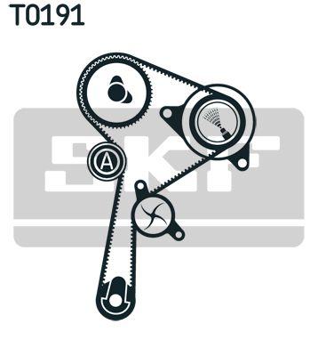 Water Pump + Timing Belt Kit SKF VKMA06136 rating
