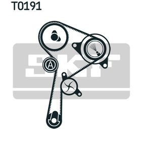 Water pump and timing belt kit with OEM Number 82 00 367 922