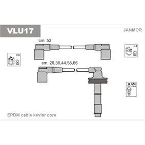 JANMOR  VLU17 Ignition Cable Kit EPDM (ethylene propylene diene Monomer (M-class) rubber), Length: 260mm, Length: 360mm, Length 3: 440mm, Length 4: 580mm, Length 5: 660mm