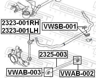 Lagerbuchse, Stabilisator FEBEST VWSB-001 Bewertung