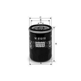 Oil Filter W 610/10 Accord 7 Limousine (CL, CN) 2.0 MY 2006
