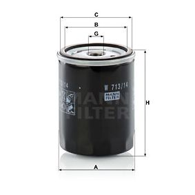 Article № W 713/14 MANN-FILTER prices