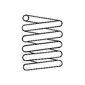 Fahrwerksfeder Länge: 344mm, Ø: 21,1mm, Ø: 146mm mit OEM-Nummer 281 411 105 D 952