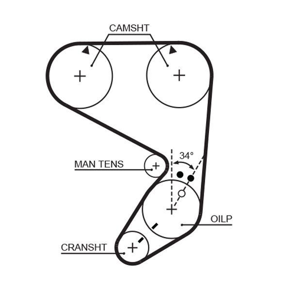 GATES FleetRunner™ Micro-V® Stretch Fit® 5022 Zahnriemen Länge: 1410mm, Breite: 19mm