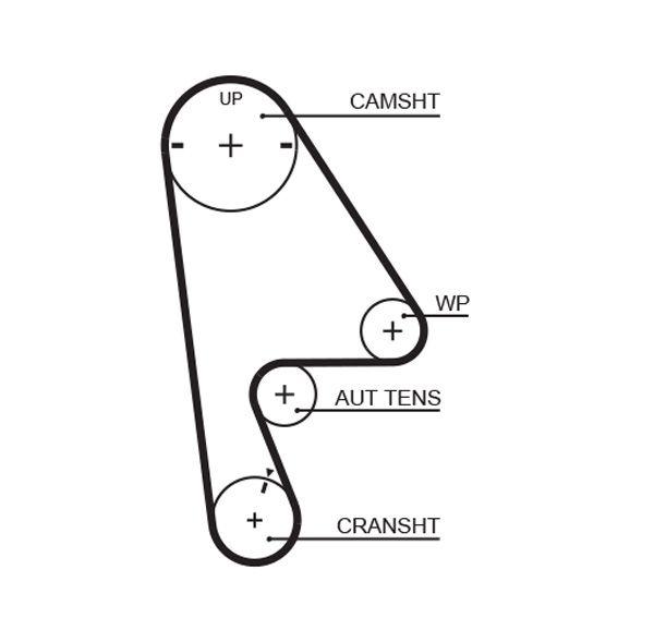 GATES FleetRunner™ Micro-V® Stretch Fit® 5410XS Correa dentada Long.: 991mm, Ancho: 24mm