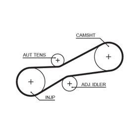 Zahnriemen für VW TRANSPORTER IV Bus (70XB, 70XC, 7DB, 7DW) 2.5 TDI 102 PS ab Baujahr 09.1995 GATES Zahnriemen (5494XS) für