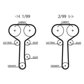 Zahnriemen Länge: 1229mm, Breite: 25,4mm mit OEM-Nummer 988M-6268-A2A