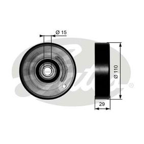 Spannrolle, Keilrippenriemen Breite: 29mm mit OEM-Nummer 00A 903 341