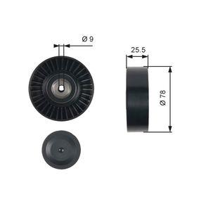 GATES FleetRunner™ Micro-V® Kit T38087 Umlenkrolle Keilrippenriemen Ø: 78mm