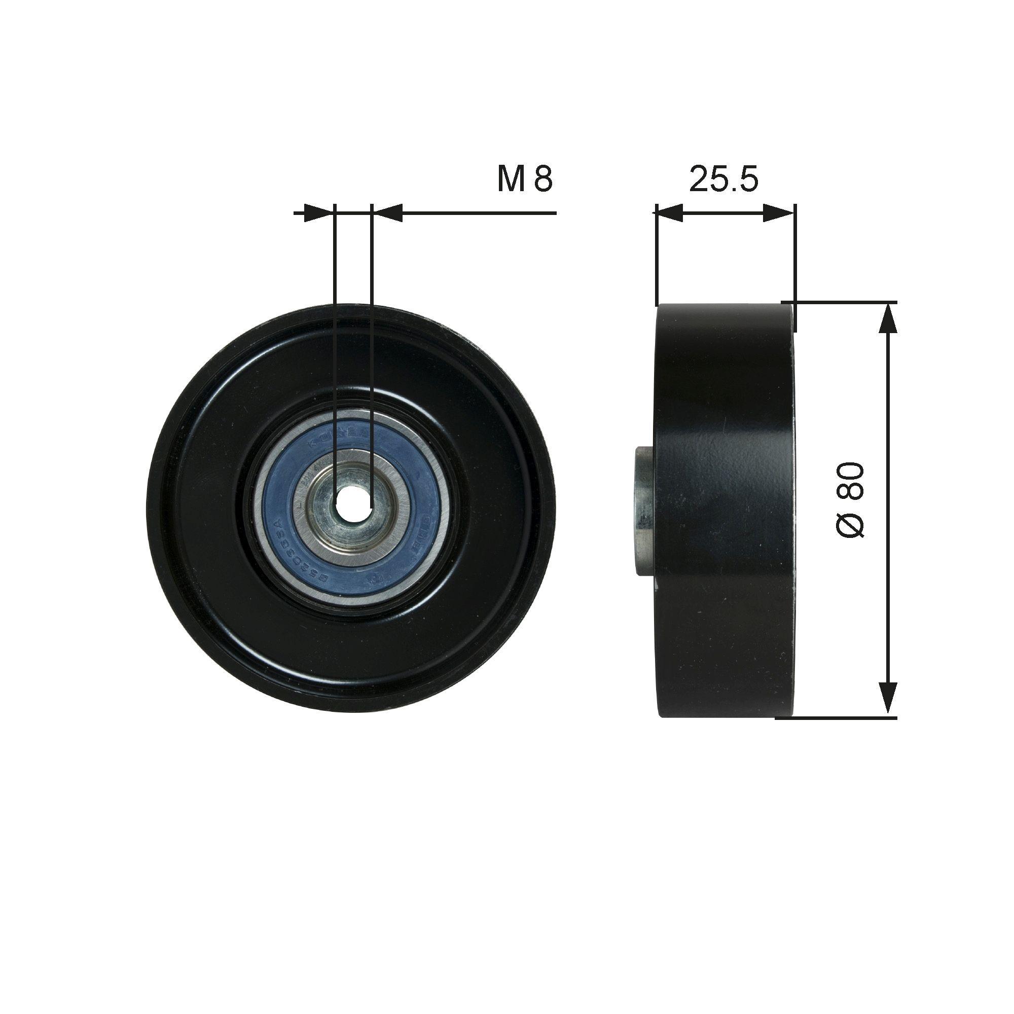 GATES FleetRunner™ Micro-V® Kit T38089 Umlenkrolle Keilrippenriemen Ø: 80mm