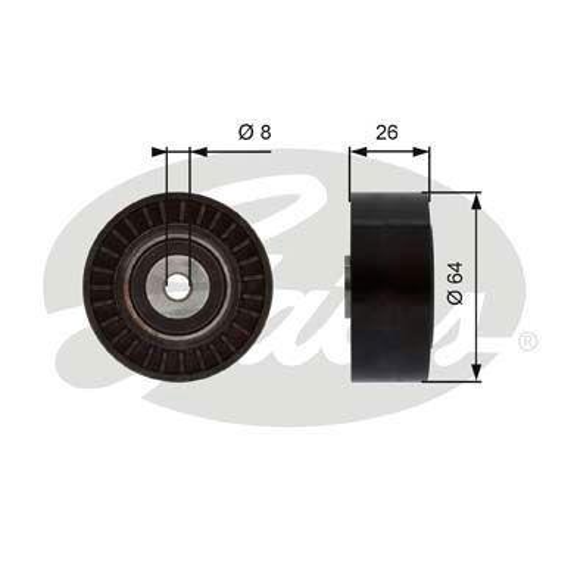 GATES FleetRunner™ Micro-V® Kit T38094 Umlenkrolle Keilrippenriemen Ø: 65mm