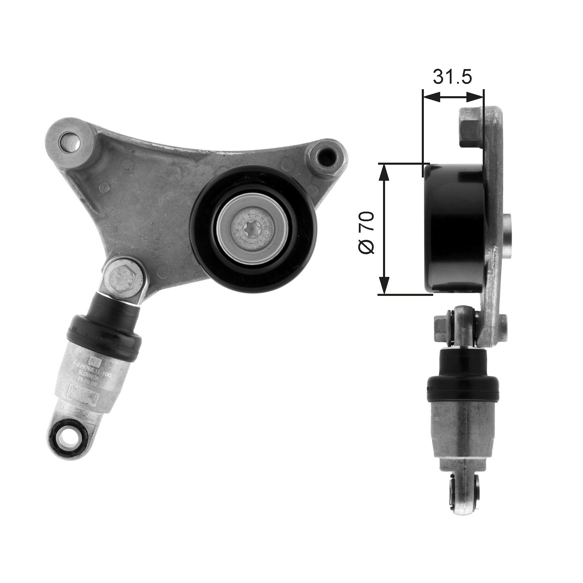 GATES FleetRunner™ Micro-V® Kit T38216 Spannrolle, Keilrippenriemen