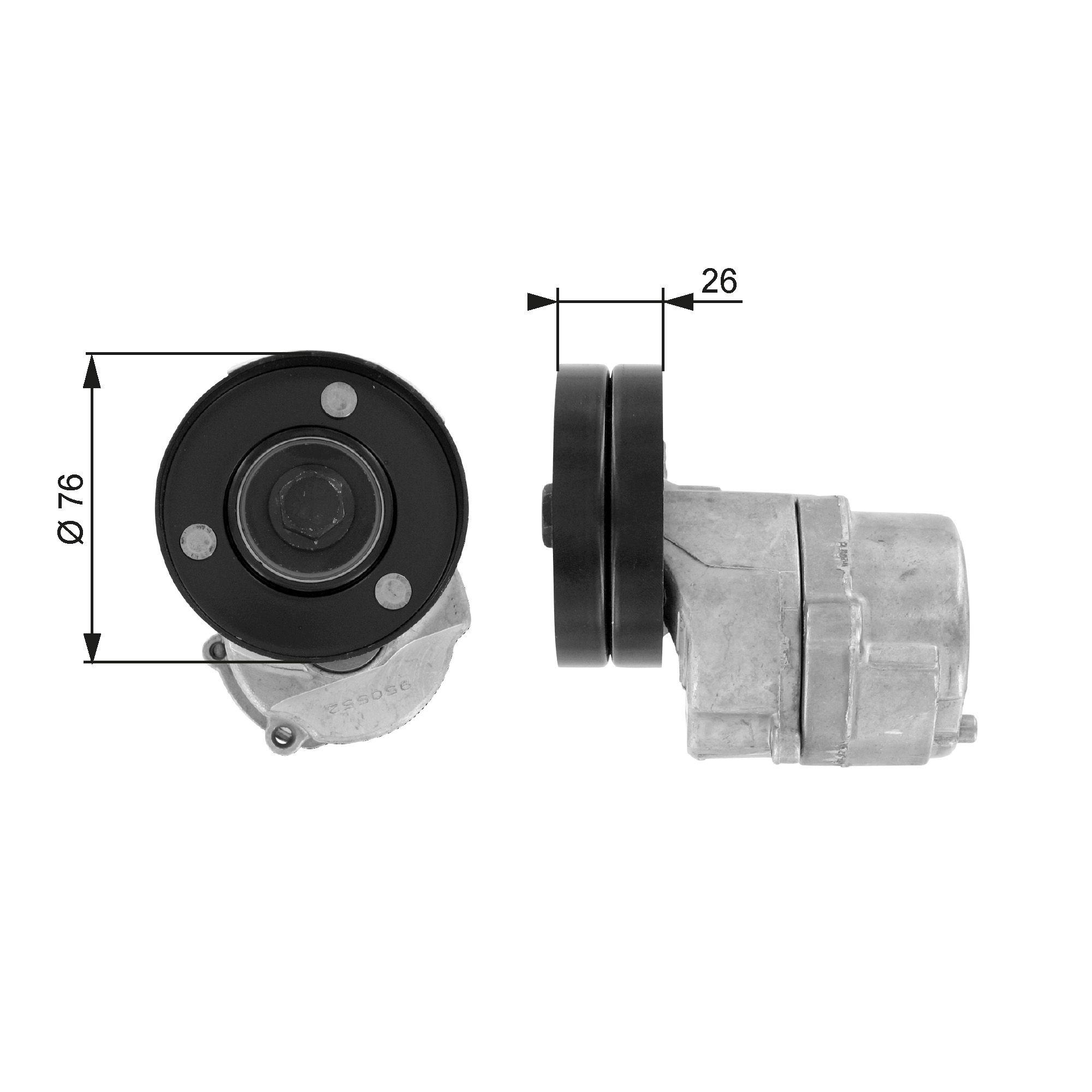 GATES FleetRunner™ Micro-V® Kit T38287 Spannrolle, Keilrippenriemen