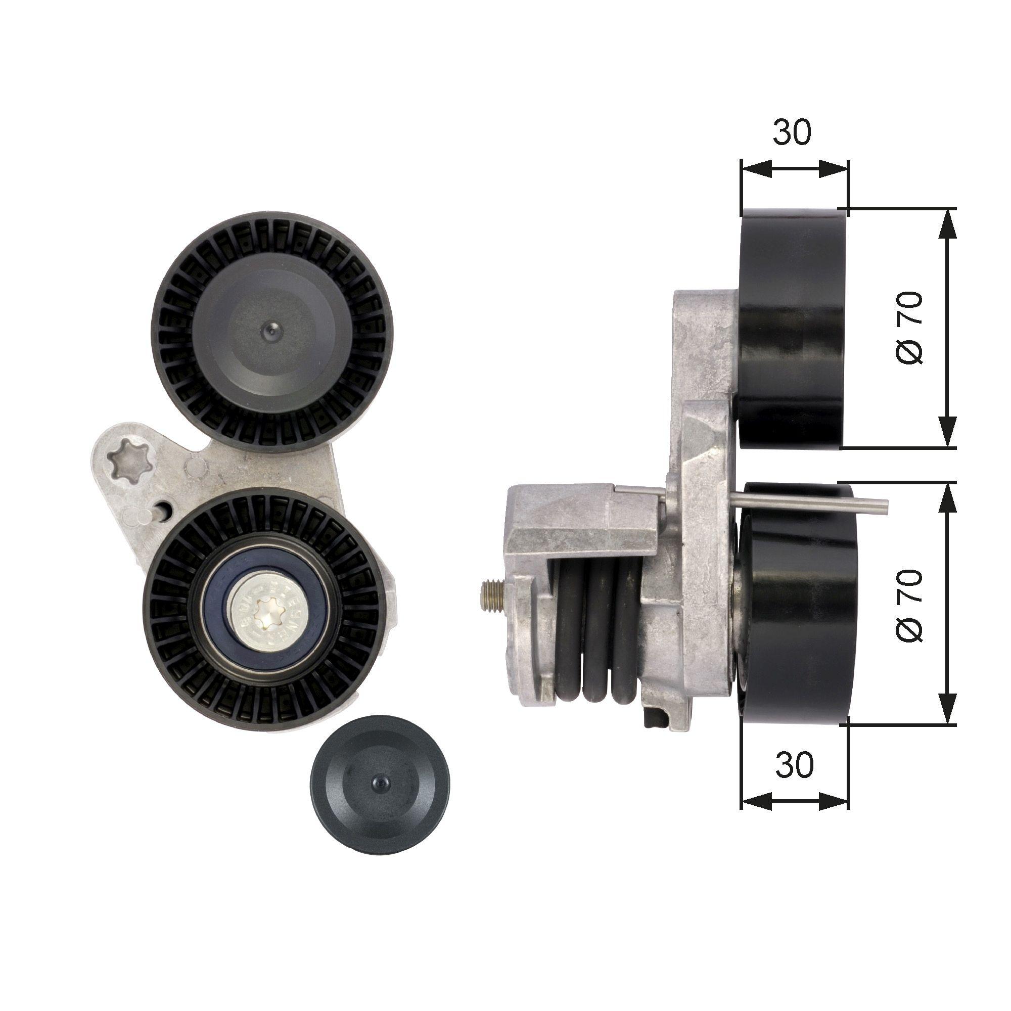 GATES FleetRunner™ Micro-V® Kit T39114 Spannrolle, Keilrippenriemen