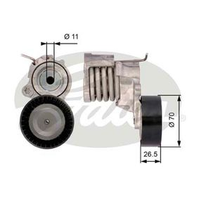 Spannrolle, Keilrippenriemen Breite: 26,5mm mit OEM-Nummer 03D903305F