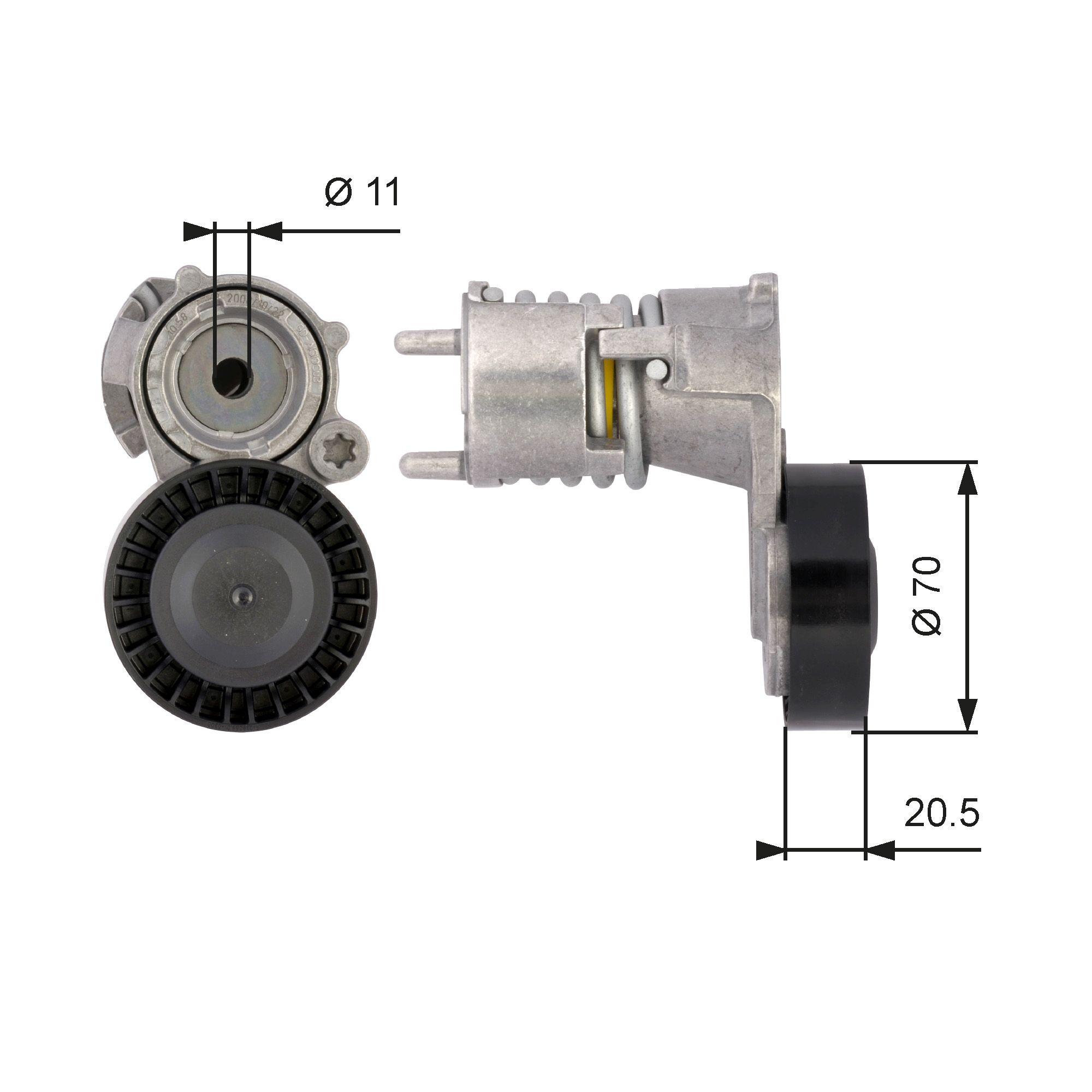 GATES FleetRunner™ Micro-V® Kit T39117 Spannrolle, Keilrippenriemen