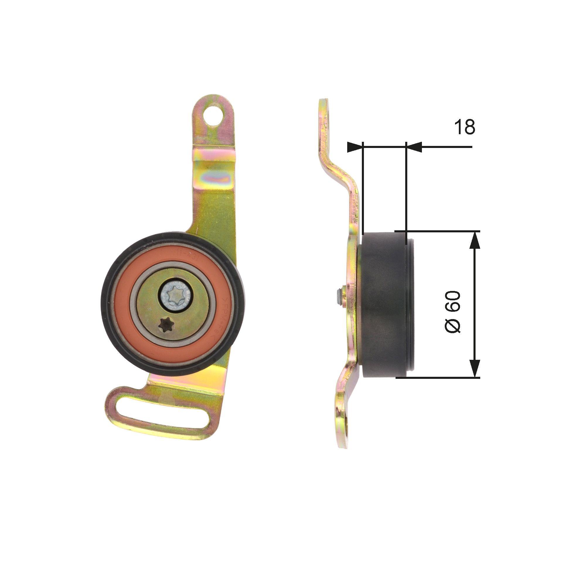 GATES FleetRunner™ Micro-V® Kit T39119 Spannrolle, Keilrippenriemen