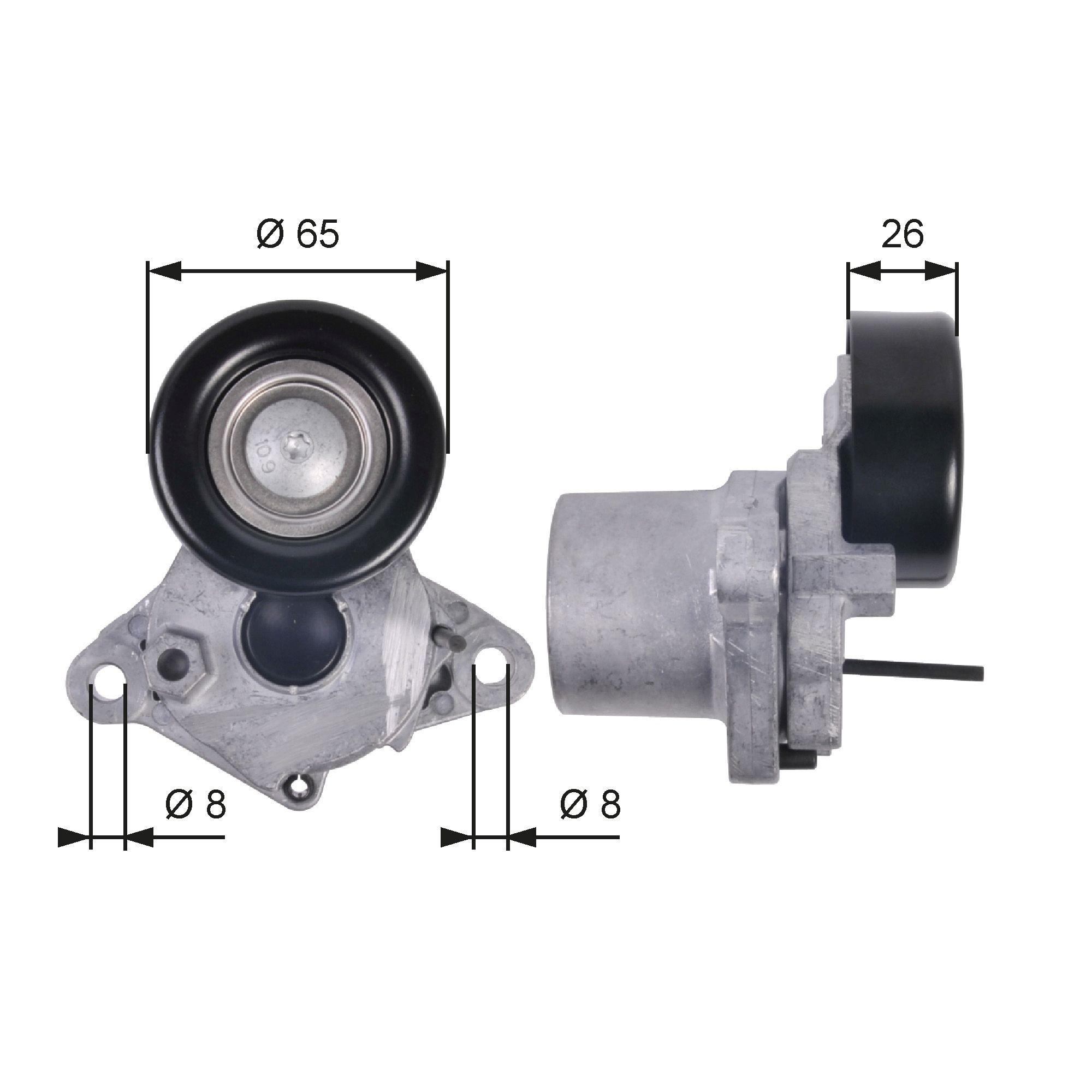 GATES FleetRunner™ Micro-V® Kit T39123 Tensioner Pulley, v-ribbed belt Width: 22mm