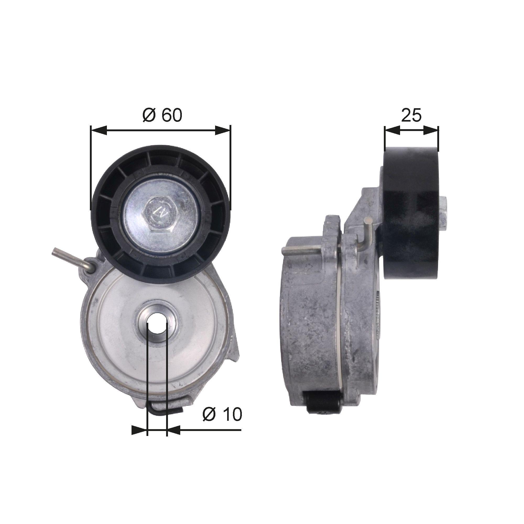 GATES FleetRunner™ Micro-V® Kit T39126 Spannrolle, Keilrippenriemen
