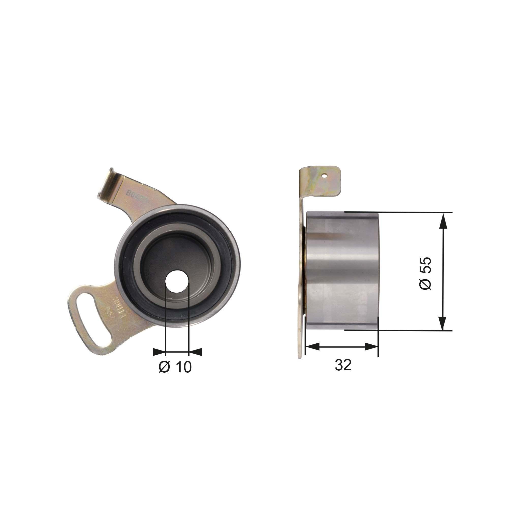GATES FleetRunner™ Micro-V® Stretch Fit® T41168 Spannrolle, Zahnriemen Ø: 55mm