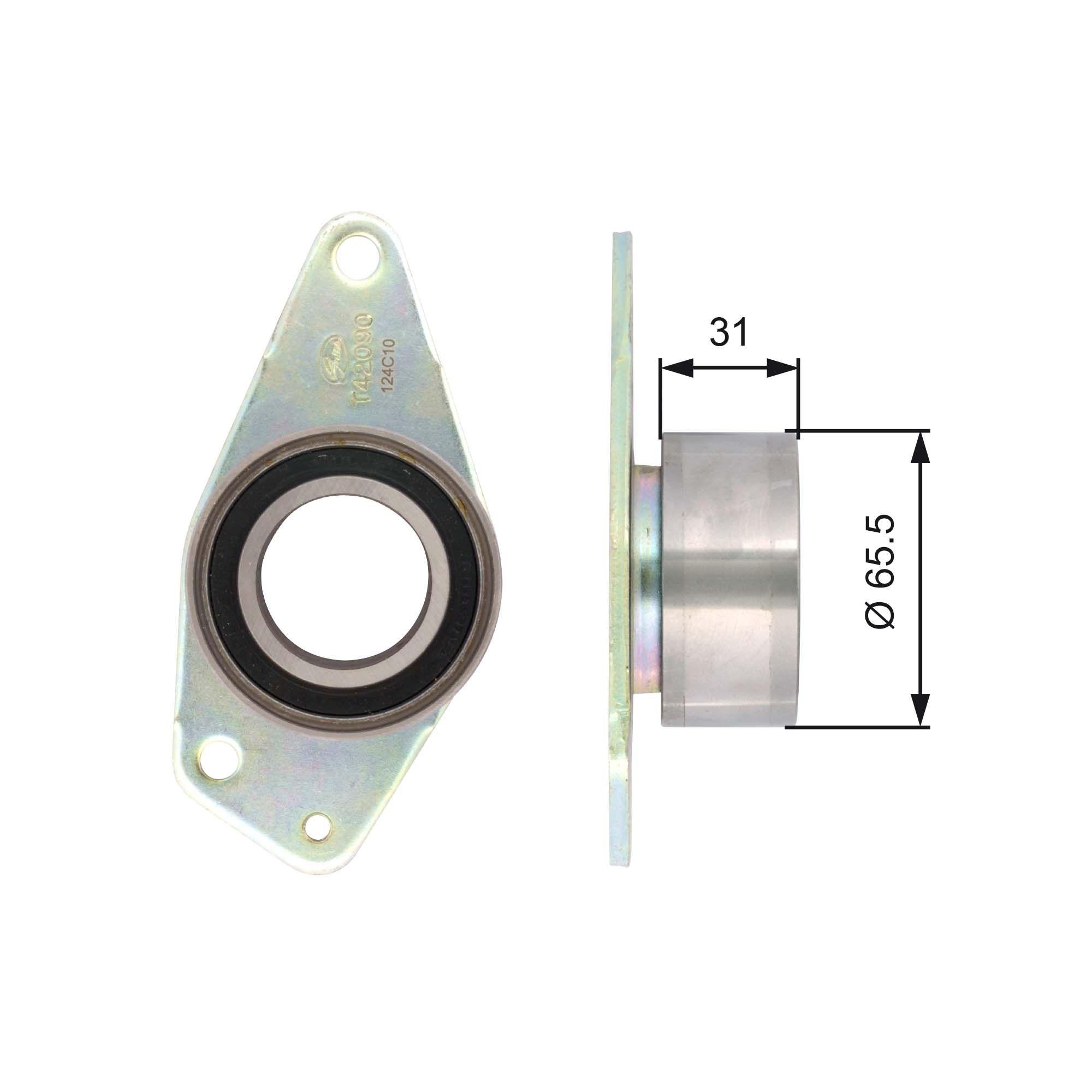 GATES FleetRunner™ Micro-V® Stretch Fit® T42090 Umlenkrolle Zahnriemen