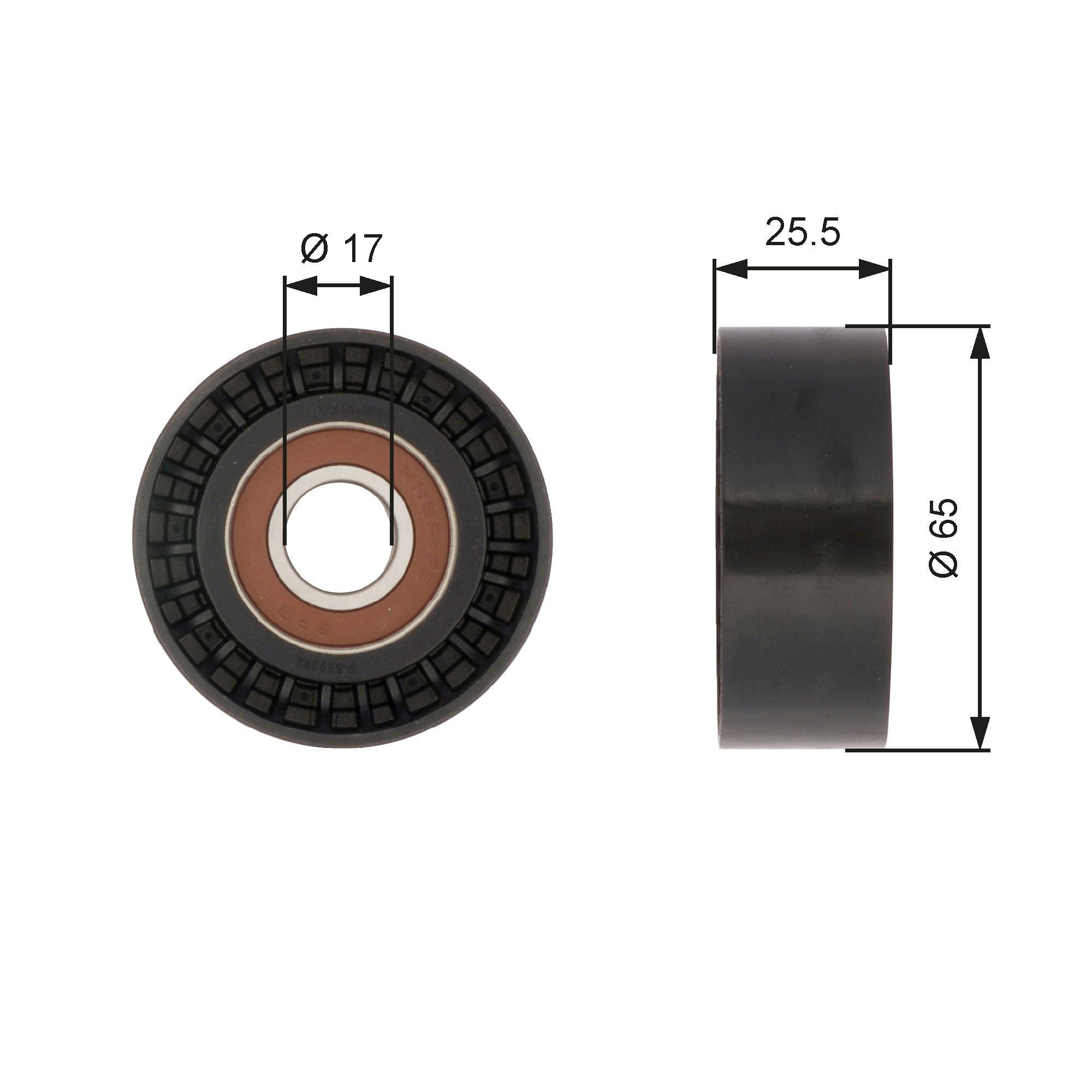 GATES FleetRunner™ Micro-V® Stretch Fit® T43059 Spannrolle, Zahnriemen